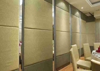 Anodized Movable Partition Wall Telescopic Sleeve Panel  Top Hung Without Track